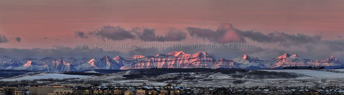 Acupuncture Calgary Sunrise at Rocky Mountain from Calgary - Coverpage Image of Anderson Area Acupuncture Wellness Clinic